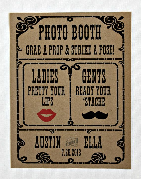 Custom Photo Booth Sign Photo Booth Prop by LittleRetreats on Etsy, $15.00