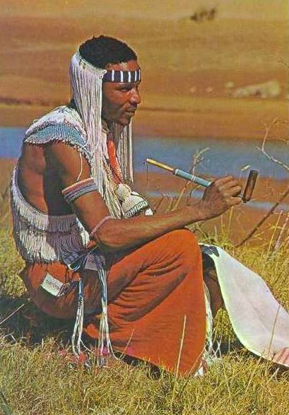 Africa | Xhosa man. Transkei, South Africa. ca. 1950s/60s | Scanned postcard.