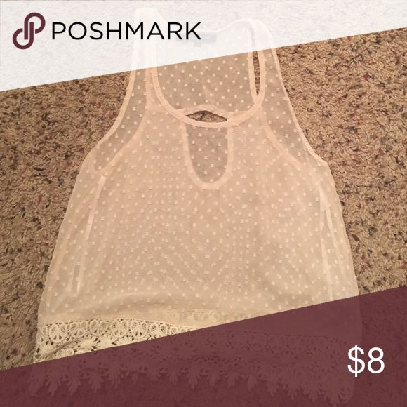 Cream top Flowy cream top worn with a bandeau. Tops Tank Tops