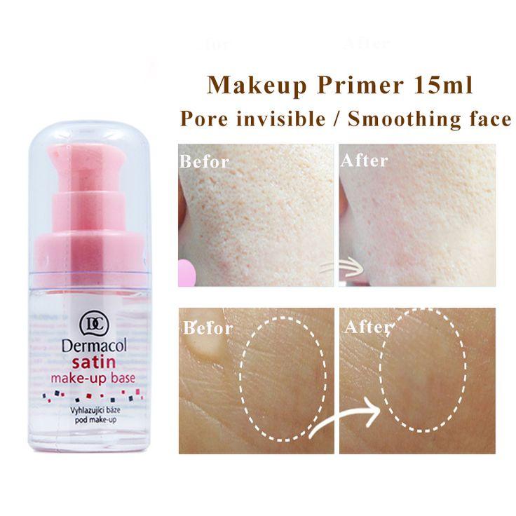 Dermacol Primer15ml Satin makeup face prime Base Smoothing skin Dermacol Makeup Cover Pore Professional pore minimizer fessional