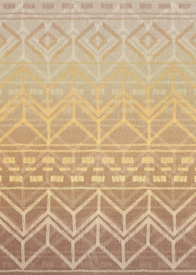 Neutral Tan & Gold Tribal Ikat Pattern Art Print
