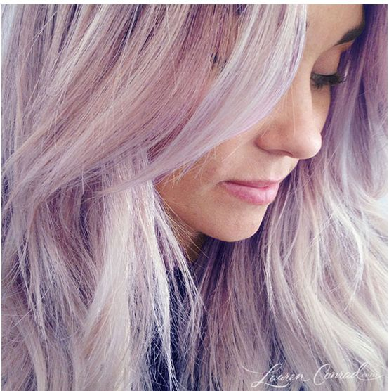Lauren Conrad's new haircolor in Lilac