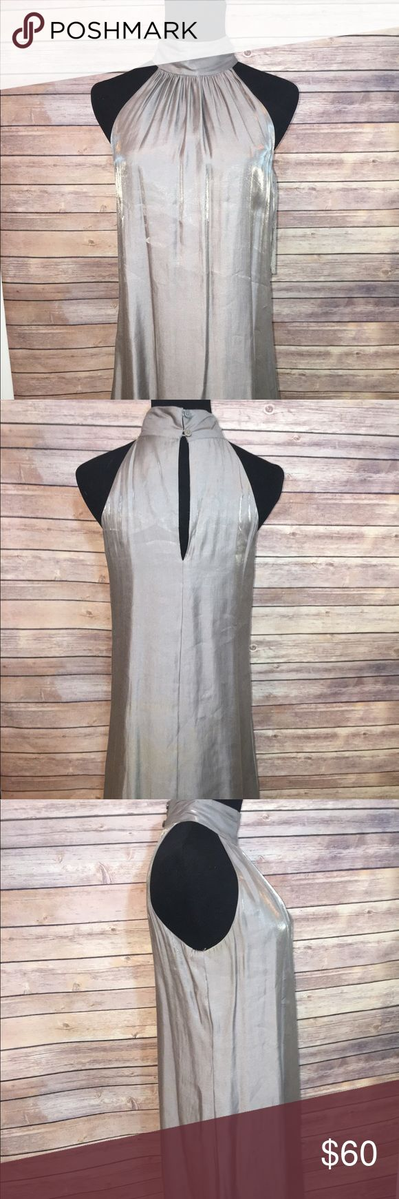 Simple silver dress Great dress for a fancy night out with great shine to it I've used it for Christmas party years ago and haven't since , this is a perfect dress if an early pregnancy Michael Kors Dresses Strapless