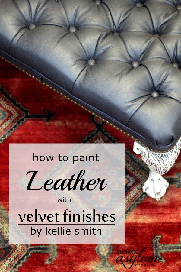 have any old ugly leather or pleather furniture youre thinking about dumping can you paint leather furniture
