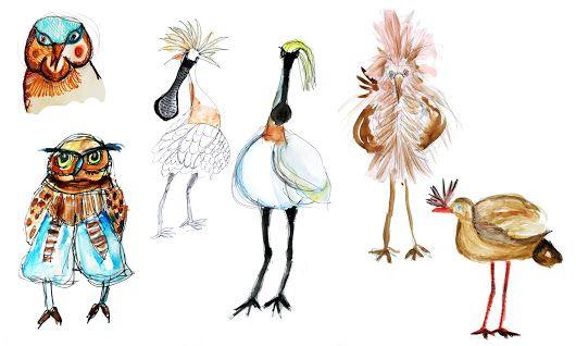 Vogel Schetsjes