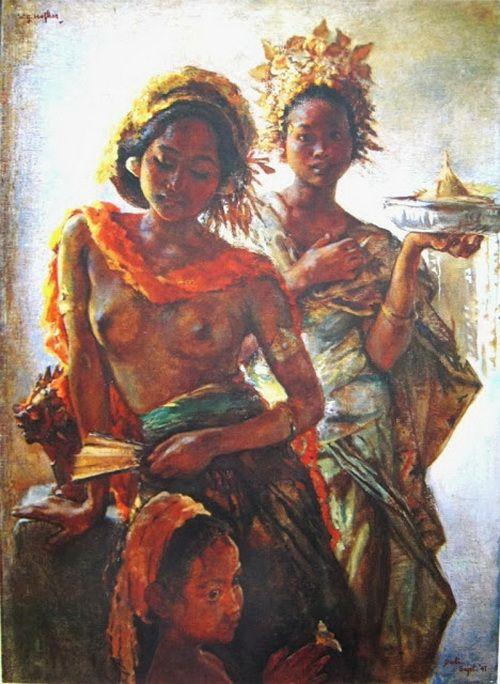 W.G. Hofker, Gadis-gadis Bali dalam pesta pura