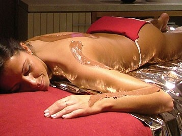 Chocolate body wrap - indulgent & calorie free from Champneys Resorts. #spa
