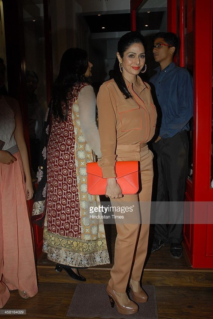 Bollywood actor Sridevi at the launch of Bandra 190, a luxury concept retail boutique co-owned by Sussanne, Seema Khan and Maheep Kapoor on December 18, 2013 in Mumbai, India. The entire Bollywood turned up on the opening night barring Sussane's estranged husband, actor Hrithik Roshan.