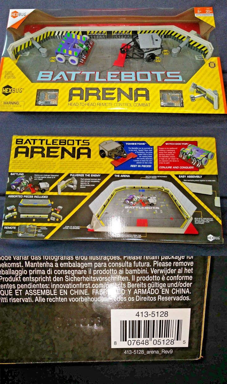 Micropets 52341: Lot Of 2 Hexbug Battlebots Arena Playset, Fold Out Game Board Remote Control Ir -> BUY IT NOW ONLY: $159.95 on eBay!