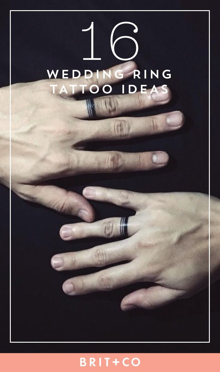 16 Wedding Ring Tattoos We Kind Of Love
