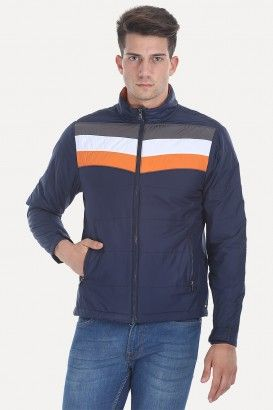 Polyester Padded Racing Stripes Cire Jacket
