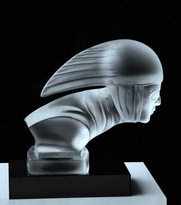 Rare Bohemian Art Deco Glass Car Mascot Hood Ornament #ArtDeco