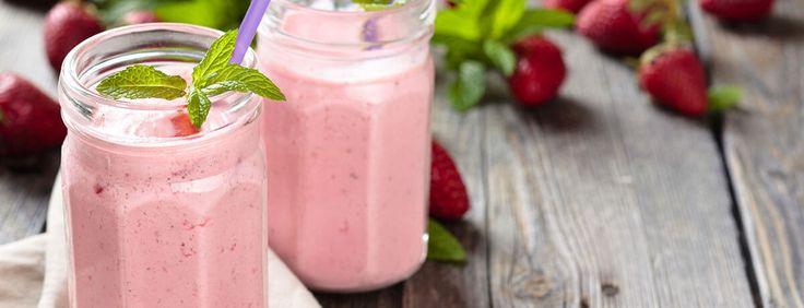 Vanille Erdbeer Shake