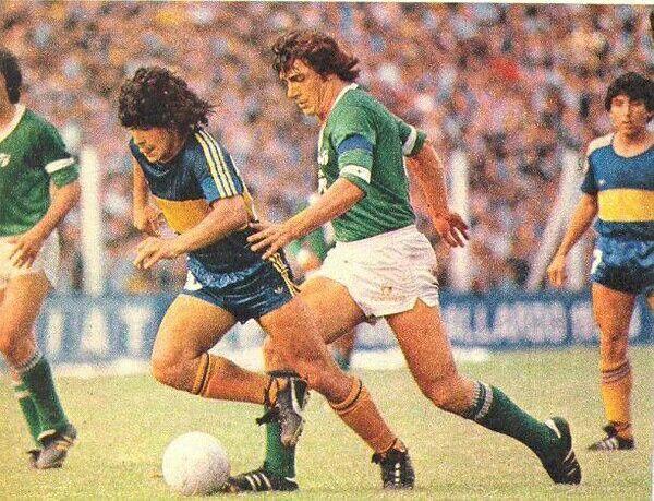 Saccardi vs Diego, Ferro vs Boca , Metropolitano 1981.