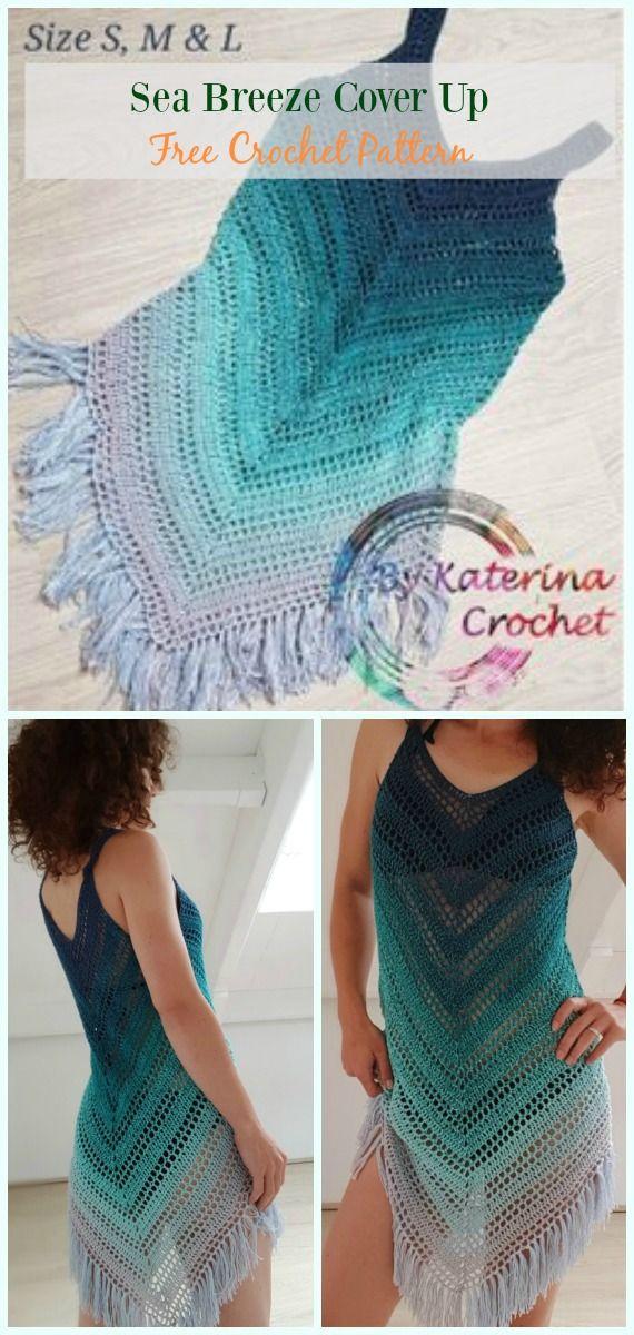 Sea Breeze Cover Up Crochet Free Pattern Crochet Beach Cover Up Free Patterns Crochet Beach Wear Crochet Dress Pattern Free Crochet Dress Pattern