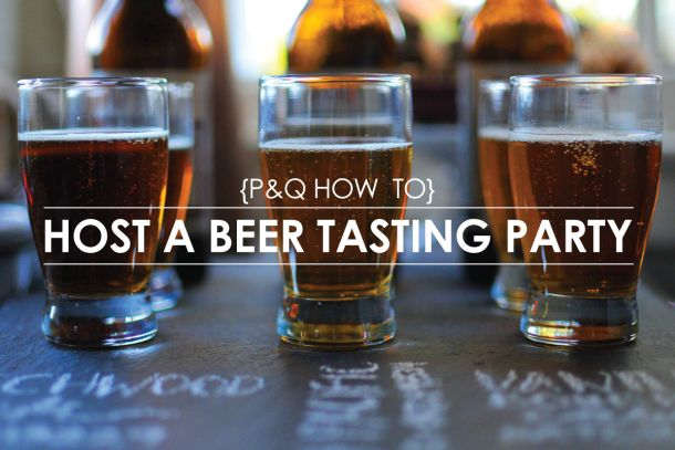 How To: Host a Beer Tasting Party // the pig & quill #sponsored #project12 #MC