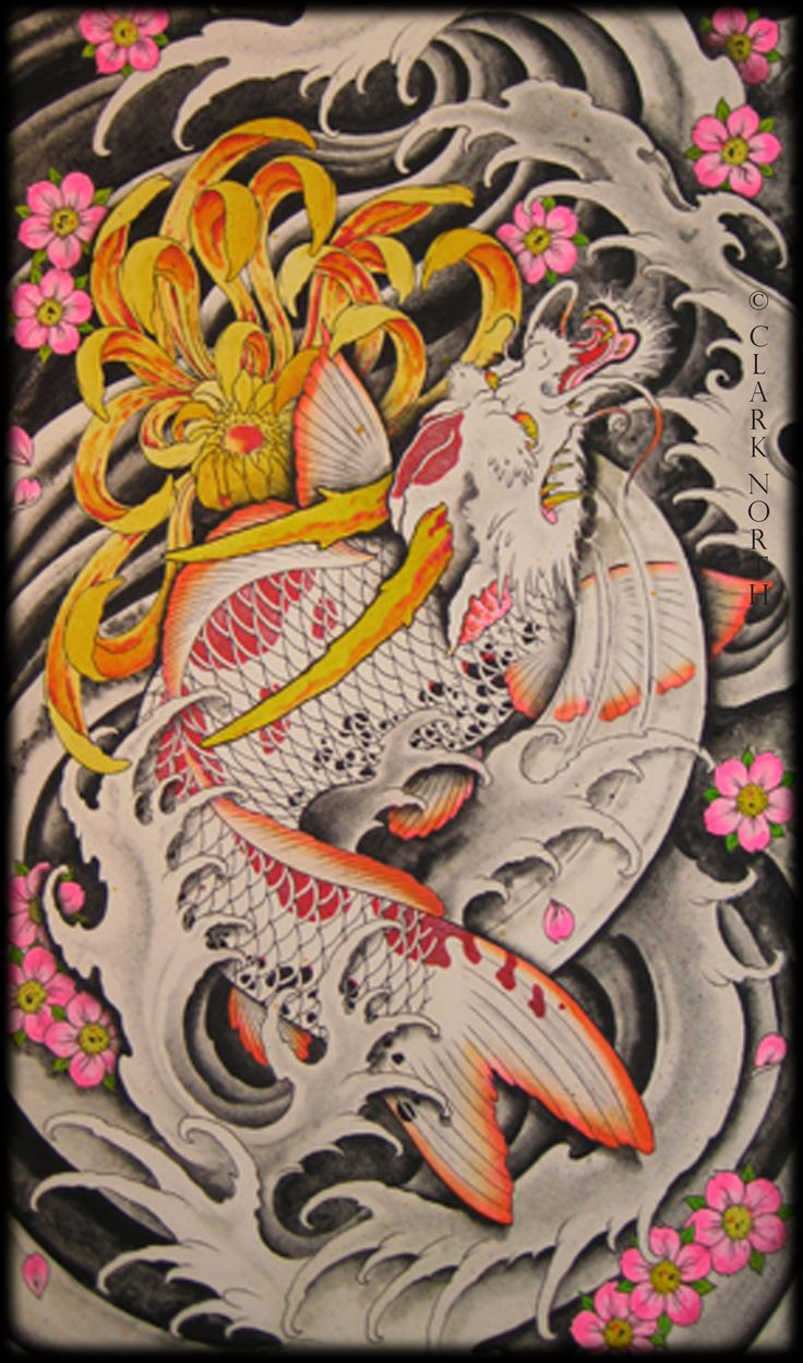 Dragon koi by clark north tribal dragons pinterest for Dragon koi for sale