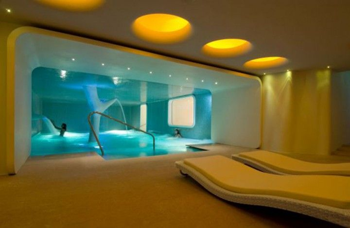 Interior Modern Spa Room Design With Yellow Color Themed Interior ...