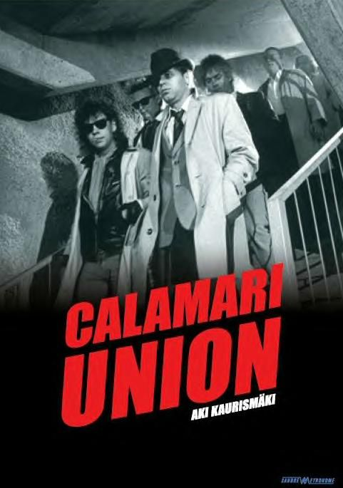 Calamari Union (1985) - Aki Kaurismäki.In which a loose 'gang' comprising 18 (or so) men, all (bar one) named Frank, all (bar one or two) permanently wearing sunglasses (day and night, indoor/outdoor), attempt to leave behind their unsatisfactory environment.This is very early Kaurismaki, Plot is incidental; attitude is all.