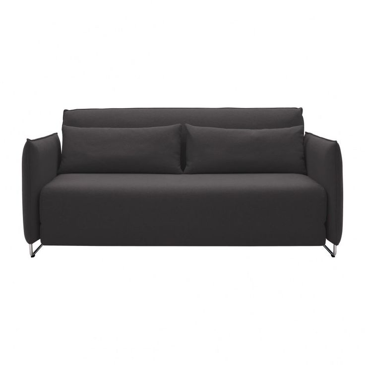 softline cord schlafsofa anthrazit filz 610 gestell chrom 170x76x96cm liegefl che 148x200cm. Black Bedroom Furniture Sets. Home Design Ideas