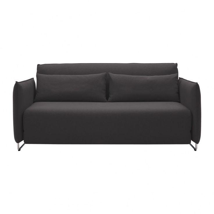 softline cord schlafsofa anthrazit filz 610 gestell chrom 170x76x96cm liegefl che 148x200cm. Black Bedroom Furniture Sets. Home Design Ideas