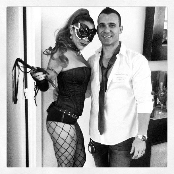 Pin for Later: 60 Sexy Halloween Couples Costume Ideas Fifty Shades of Grey Handcuffs and whips are ideal accessories for this outfit.