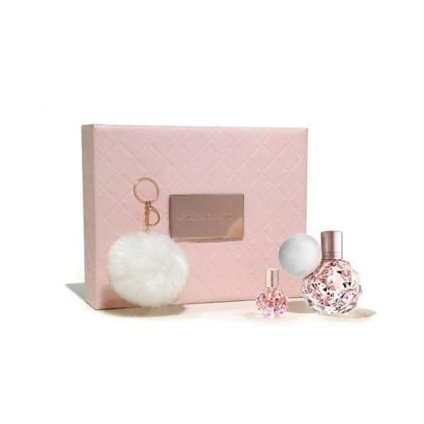 Ariana Grande 50ml EDP gift set - Boots (185 BRL) ❤ liked on Polyvore featuring beauty products, gift sets & kits, miniature perfume, mini perfume, eau de parfum perfume, eau de perfume and perfume