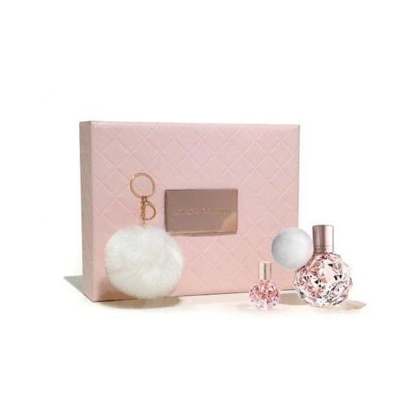 Ariana Grande 50ml EDP gift set - Boots (185 BRL) ❤ liked on Polyvore featuring beauty products, gift sets & kits, miniature perfume, mini perfume, eau de parfum perfume, eau de perfume and perfume