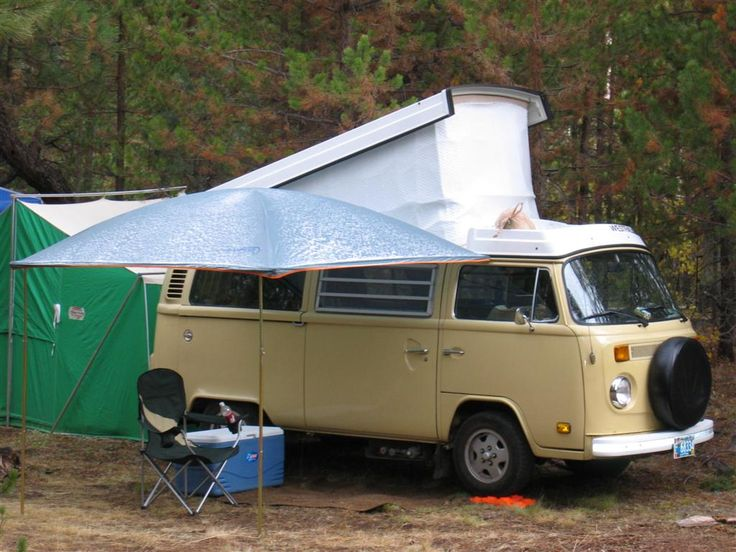 VW Bus with side awning   Vw bus, Camper, Busse