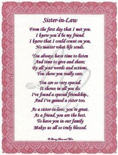 poems for from friend to sisters | My Sister In Law And Her Bridesmaids Funny Pictures Quotes at Oke LoL ...
