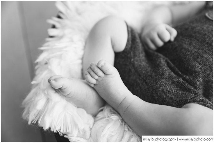 Newborn Photos, Black & White Images - Missy B Photography www.missybphoto.com Newborn up close photos, newborn macro images, newborn feet, newborn detail photos, simple newborn posing, basic details photos newborn