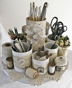 31 Days of Getting Organized (Using What You Have) - Day 12: Organize With Cans - Organize and Decorate Everything