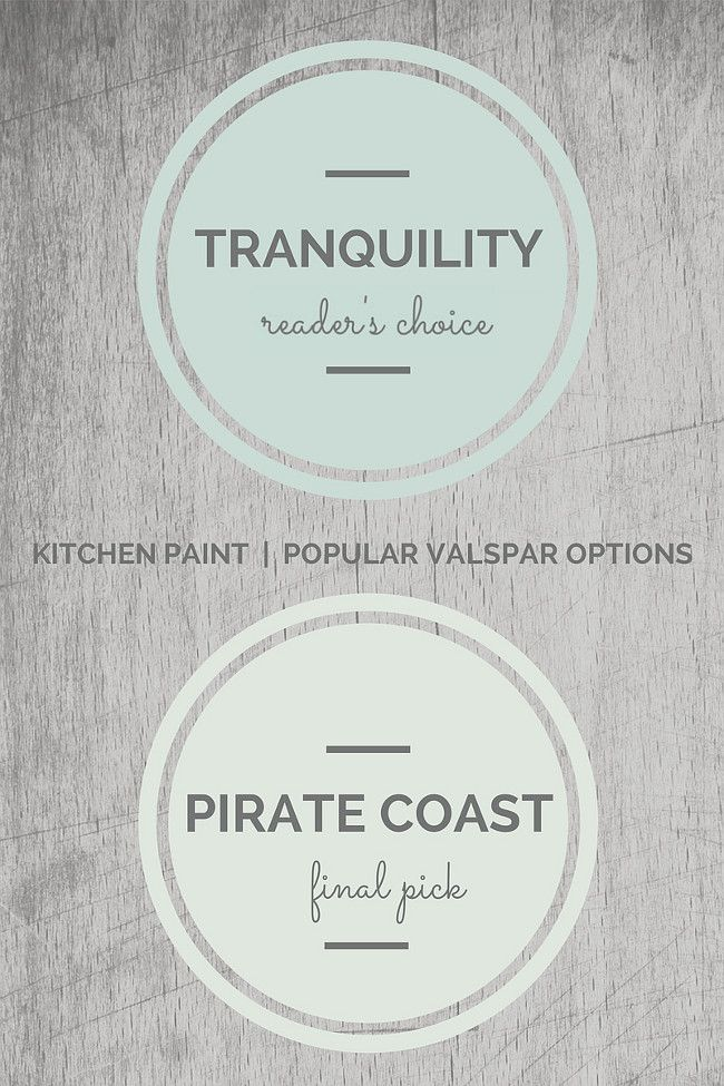 Valspar Kitchen Paint Colors. Valspar Tranquility, Valspar Pirate Coast. Via Seven Town Way.