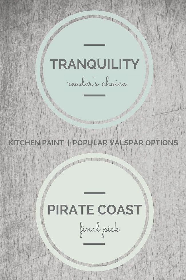 Valspar Kitchen Paint Colors. Valspar Tranquility, Valspar Pirate Coast. Via Seven Town Way.