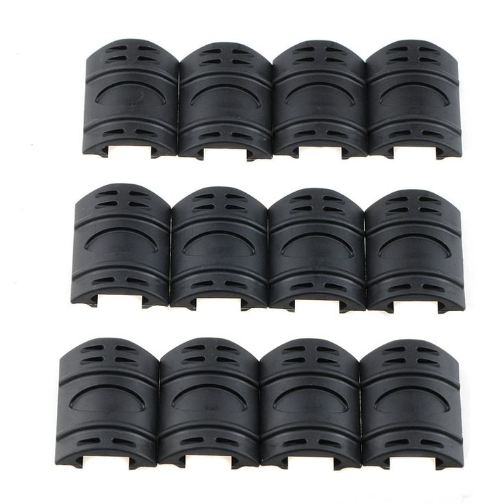 12pcs/lot Rifle Weaver Picatinny Hand Guard Quad Rail Covers Rubber Tactical VEH29 P31 #jewelry, #women, #men, #hats, #watches, #belts