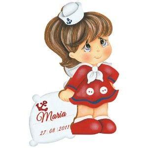 Lembrancinhas-de-Nascimento-MDF-Decoupage-Menina-Marinheira-DMA-040---Litoarte