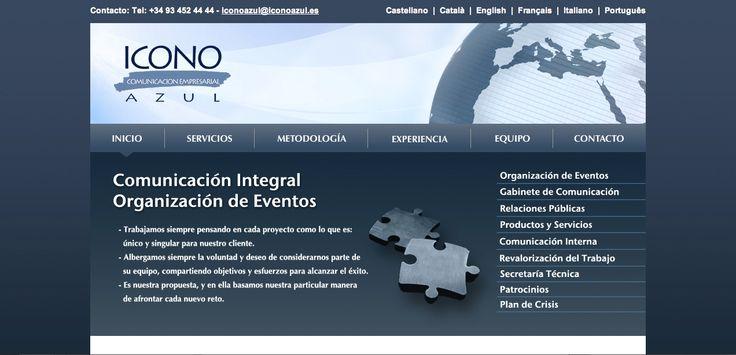 Página web Icono Azul | Comunicación empresarial