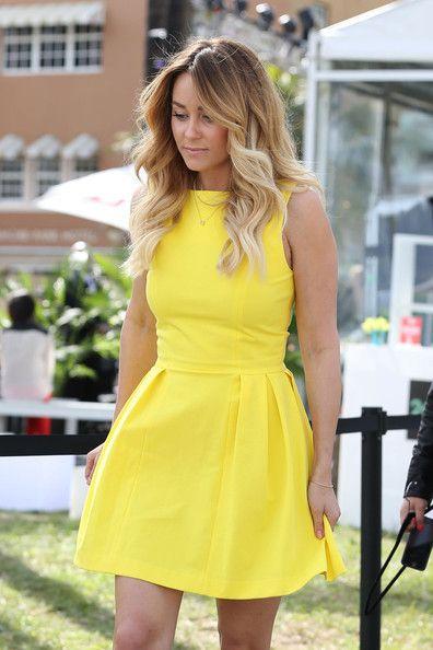 #LaurenConrad #hair #yellow #dress