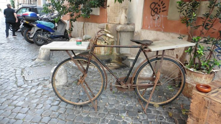 Bicycle table, Trastevere, Rome.