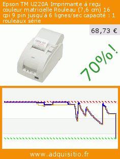 Epson TM U220A Imprimante à reçu couleur matricielle Rouleau (7,6 cm) 16 cpi 9 pin jusqu'à 6 lignes/sec capacité : 1 rouleaux série (Personal Computers). Réduction de 70%! Prix actuel 68,73 €, l'ancien prix était de 229,09 €. http://www.adquisitio.fr/epson/tm-u220a-imprimante-re%C3%A7u-0