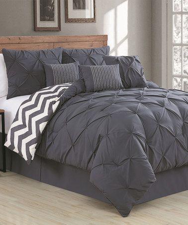 Look what I found on #zulily! Charcoal Ella Seven-Piece Comforter Set #zulilyfinds