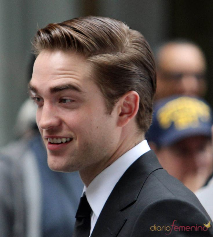 robert pattinson   Robert Pattinson con el pelo engominado en el rodaje de 'Cosmópolis'