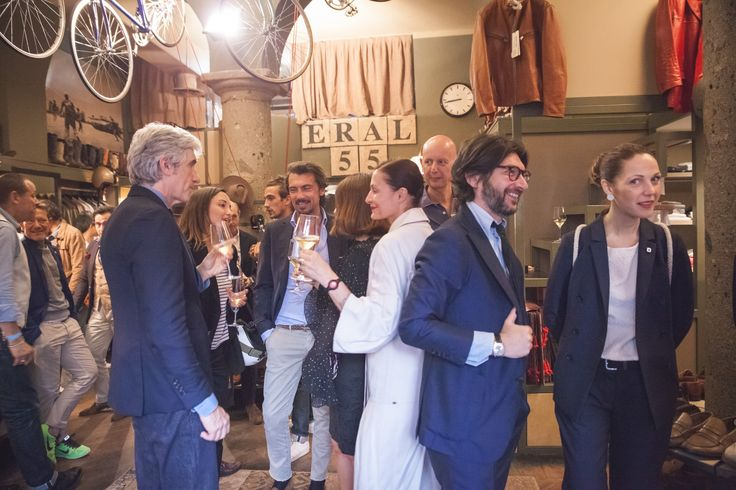 VBC event with Eral 55 buotique in Milan to celebrate 21 micron wool during Men's Fashion Week S/S 2017 #VBC21Milano