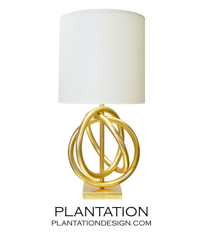 3 Ring Table Lamp With White Linen Shade. Ul Approved For One 60 Watt  Bulb.Features: White Linen Shade Number Of Lights: 1 Wattage Per Light: W X  H X D