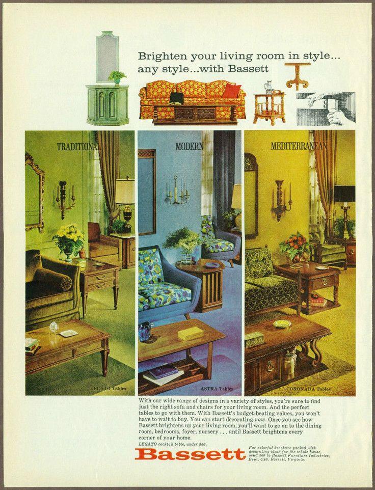 Vintage Bassett Furniture Ad 1968