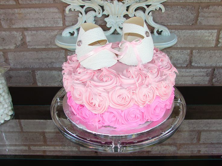 Tickled Pink Baby shower Pink Velvet Cake and I used Baby Jane cutout made of wallpaper for topper found on pintrest
