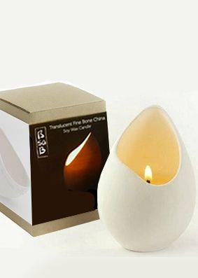Bsab Gardenia Jasmine Porcelain Egg Candle