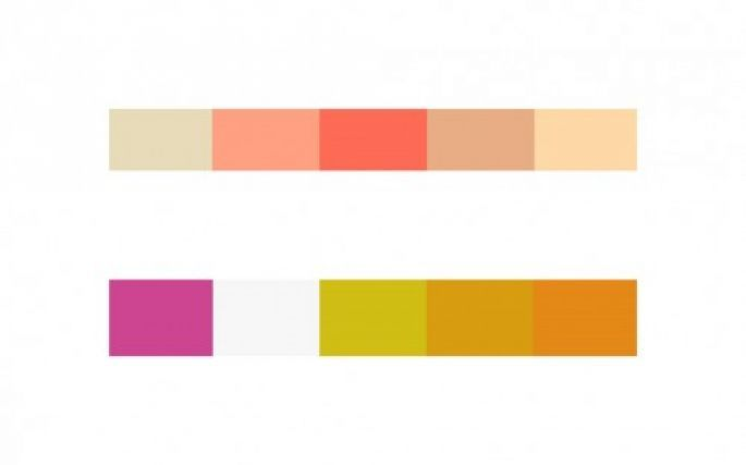 Combinaciones con colores cálidos