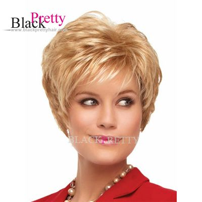 Light Color Women's Short Blonde Wig Fashion Synthetic Short Wigs Adjustable Size High Temperature Wig Cheap Wigs Online,High Quality wig short,China wig importer Suppliers, Cheap wig funny from Black Pretty Hair