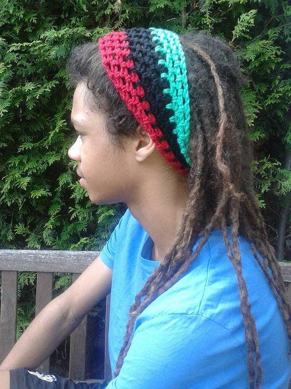 Rasta Dread Headband JAHLOVE-US.com by JAHLOVEUSDreadTams on Etsy
